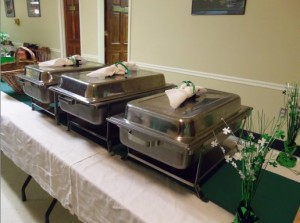 wedding buffet line