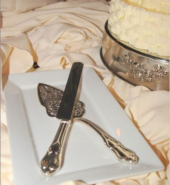 Bridal Accessories Include The Cake Knife